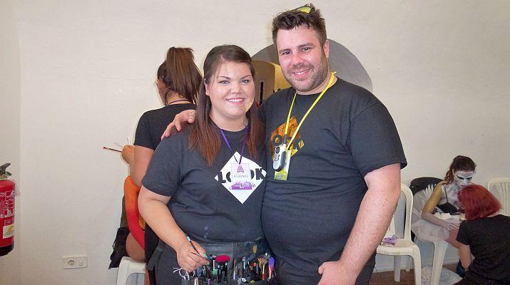 Paco, con la alumna de su academia finalista de un concurso internacional.