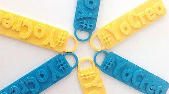 Omniimp ofrece estos llaveros impresos en 3D desde 3 euros.