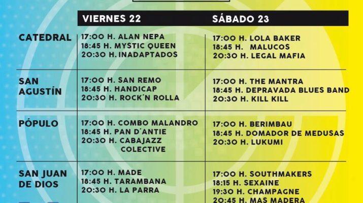 Conciertos gratuitos en Cádiz