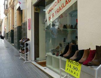 Zapatos baratos, liquidación