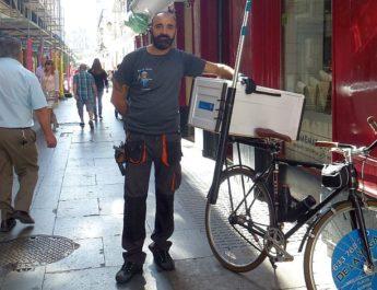 Bicicletas en Cádiz.