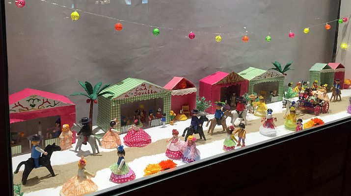Escaparate de playmobil en Cádiz