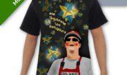 Camiseta con estrella y corazón