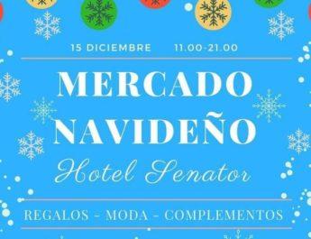 Cartel del mercado en el hotel Senator de Cádiz